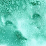 Turkooise groene waterverftextuur Stock Foto