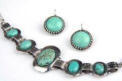 Turkooise jewelery stock foto's