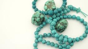 Turkooise juwelen stock footage