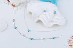 Turkooise Juwelen Stock Fotografie