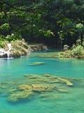 Turkooise lagune royalty-vrije stock foto