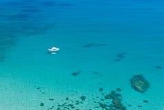 Turkooise lagune op Cyprus Stock Afbeelding