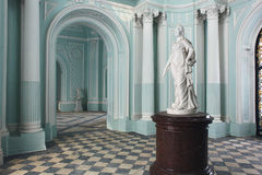 Turkooise ruimte bij het Paleis van Tsarskoye Selo Pushkin Royalty-vrije Stock Foto