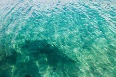 Turkooise wateren van Indische Oceaan stock afbeeldingen