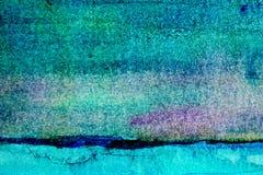 Turkooise Waterverfachtergrond 3 Royalty-vrije Stock Foto's