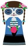 Turkos Catrina Doll royaltyfri illustrationer