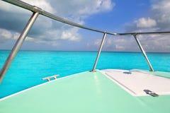 turkos för grönt hav för fartygbow karibisk Royaltyfria Bilder