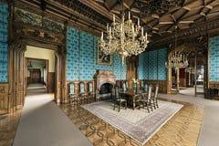 Turkos Hall i den Lednice slotten royaltyfri foto