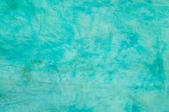Turkos knövlad färgad textur för bakgrund för silkespapperpapper Royaltyfri Illustrationer