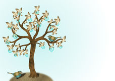 Turkos- och guldträd Fotografering för Bildbyråer
