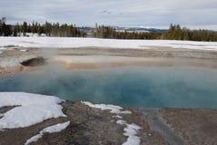 Turkos slår samman, nöjesgataGeyserhandfatet, Yellowstone NP royaltyfri bild