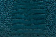 Turkos utföra i relief lädertexturbakgrund Arkivbilder