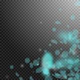 Turkosblommakronblad som ner faller Dramatiskt ROM-minne vektor illustrationer