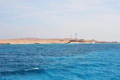 Turkoshav och sandstrand Fotografering för Bildbyråer