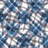 Turkosmodell för vektor för för blått, röd och vit färgtartan sömlös Rutig plädtextur Geometrisk enkel fyrkantig bakgrund vektor illustrationer
