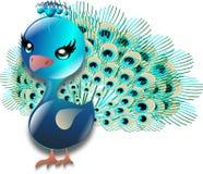 Turkospåfågel Fotografering för Bildbyråer