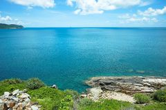 Turkosseascape lurar in den Dao ön Arkivbilder