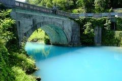 Turkosvatten av mest Na Soci Fotografering för Bildbyråer