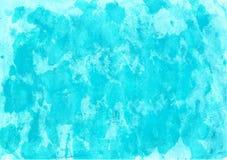 Turkosvattenfärgbakgrund Arkivbild