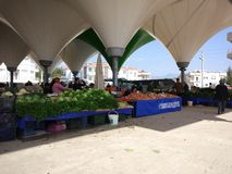 Turks bazaarfruit en plantaardige box royalty-vrije stock foto's