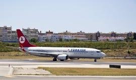 TURKS, Boeing 737-800 Royalty-vrije Stock Afbeeldingen