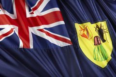Turks and Caicos flag Royalty Free Stock Photography