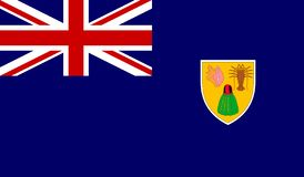 Turks and Caicos Islands Flag stock image