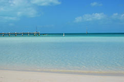 Turks and Caicos. Sapodilla Bay in Providenciales, Turks and Caicos Royalty Free Stock Photo