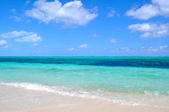 Turks and Caicos shore Royalty Free Stock Images
