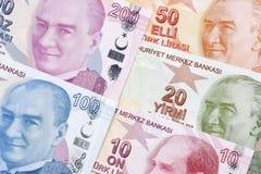 Turks geld, een achtergrond royalty-vrije stock foto's