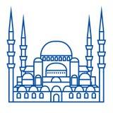 Turks het pictogramconcept van de moskeelijn Turks moskee vlak vectorsymbool, teken, overzichtsillustratie royalty-vrije illustratie