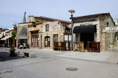 Turks kwart van oude stad Limassol, Cyprus Stock Fotografie