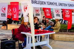 Turks Linkerwing party stand Royalty-vrije Stock Fotografie
