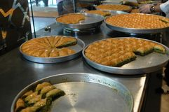 Turks the most famous dessert baklava Stock Photography