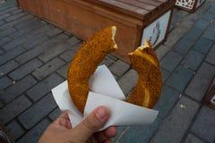 Turks ongezuurd broodje stock afbeeldingen