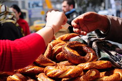 Turks ongezuurd broodje Royalty-vrije Stock Foto's