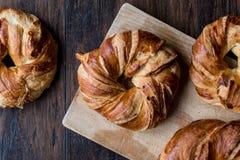 Turks Ongezuurd broodje Acma/Croissant royalty-vrije stock afbeeldingen