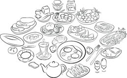 Turks ontbijt royalty-vrije illustratie