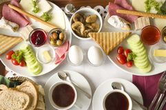 Turks ontbijt stock foto's