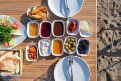 Turks ontbijt van het strand Royalty-vrije Stock Afbeeldingen