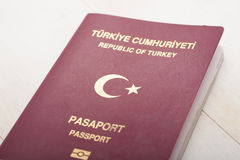 Turks Paspoortdetail Stock Afbeelding