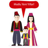 Turks People Congratulations Happy New Year Royalty Free Stock Photos
