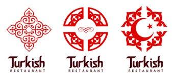 Turks Restaurantembleem Stock Afbeeldingen