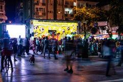 Turks Stadscentrum bij Nacht Stock Afbeelding