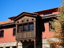 Turks Stijl Ingesloten Balkon, Griekenland royalty-vrije stock afbeelding