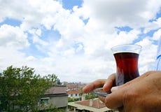 Traditional Turkish balack tea royalty free stock image