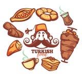 Turks voedsel royalty-vrije illustratie