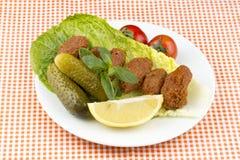 Turks voedsel; cig kofte stock foto