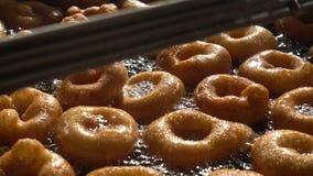 Turkse Anatolia Traditional Sweet Dessert Donut Genoemd Lokma stock videobeelden