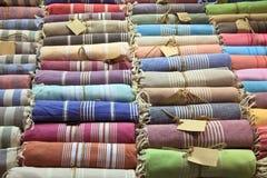 Turkse badrobes, Grote Bazaar, Istanboel Royalty-vrije Stock Fotografie